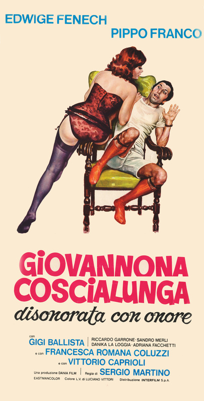 Exaggerated femininity and infantilised masculinity in the original Dania artwork for Giovannona Long-Thigh