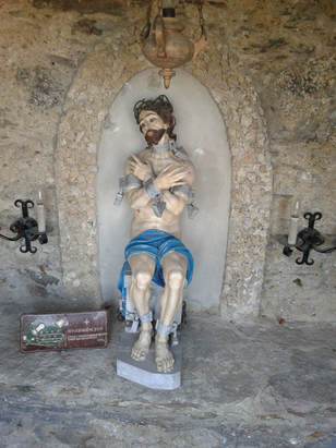 Christ in the dungeon, Calvary in St. Radegund (Styria), Austria